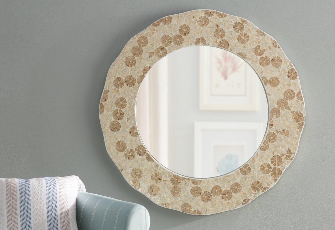 Beachcrest Home Capiz Shell Wall Mirror & Reviews | Wayfair Inside Capiz Shell Wall Art (Image 6 of 20)