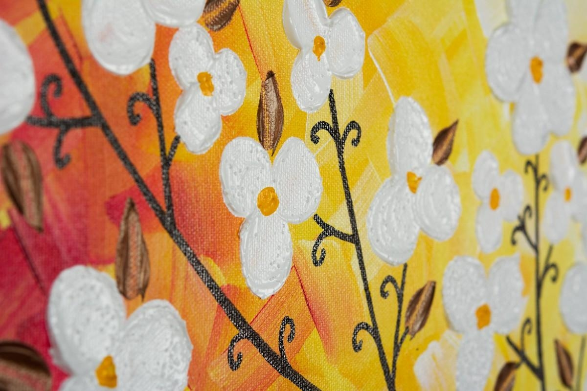 """Beautiful Autumnqiqigallery 48"""" X 24"""" Original Modern Abstract Intended For Yellow And Green Wall Art (View 15 of 20)"""