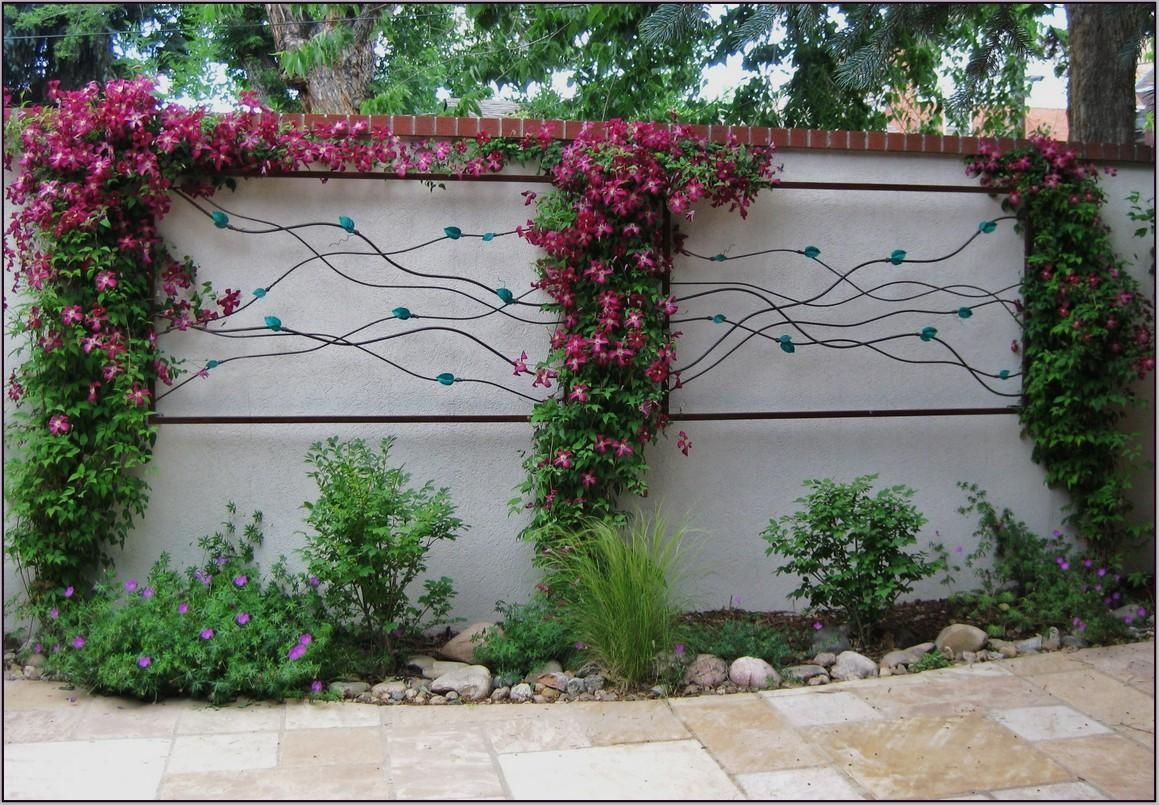 2018 latest garden wall art wall art ideas for Flower wall garden