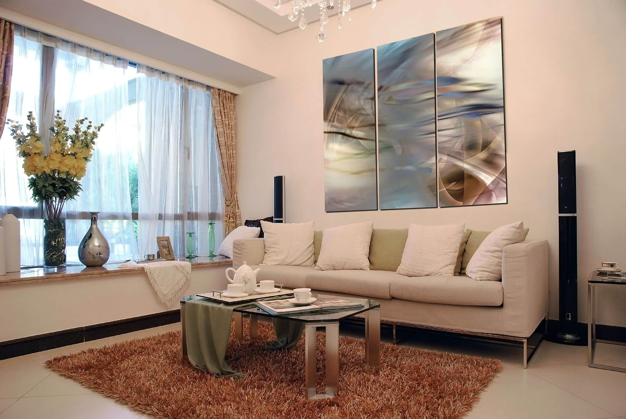 Beautiful Living Room Artwork Gallery House Design Interior Throughout Wall Art For