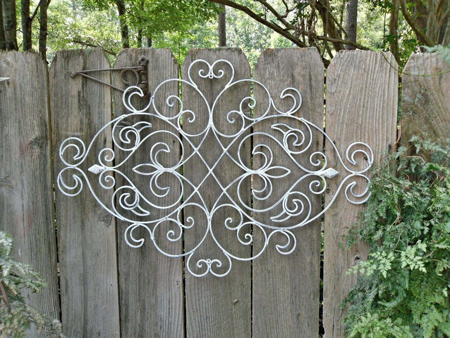 Beautify Your Home With Wrought Iron Wall Décor | Bonnieberk Intended For Iron Gate Wall Art (Image 2 of 20)