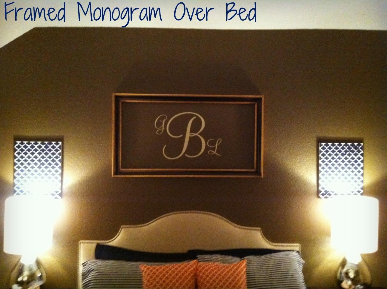 Bedroom Framed Wall Art And With Regard To Framed Monogram Wall Art (Image 3 of 20)
