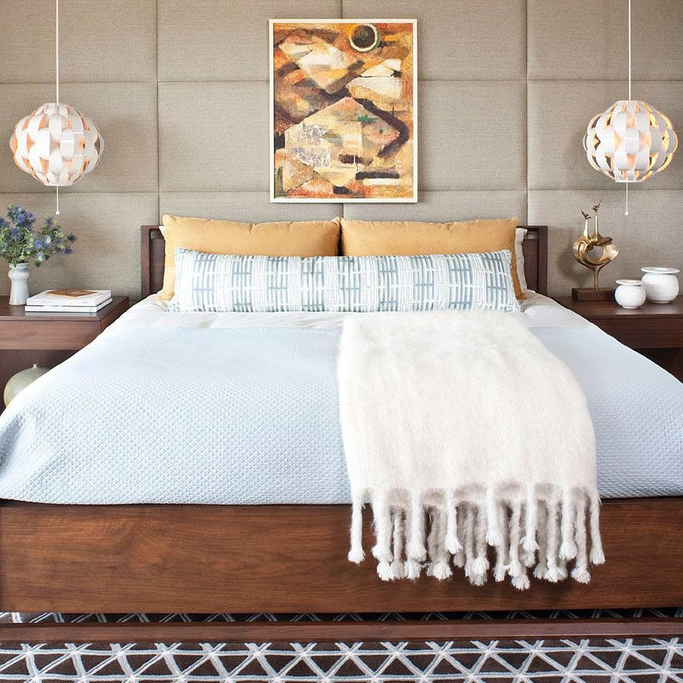 Bedroom Wall Decor & Art Ideas – Bedroom Artwork – Elledecor With Regard To Wall Art For Bedrooms (View 20 of 21)