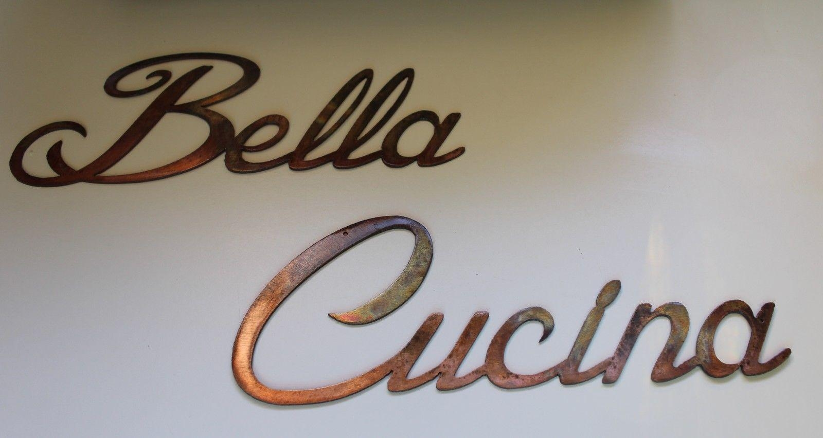 Bella Cucina Words Metal Wall Art Accents For Cucina Wall Art (Image 3 of 20)