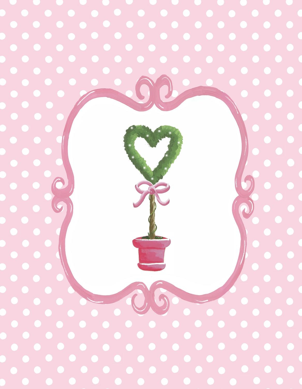 Bella Heart Topiary Canvas Wall Art – Jack And Jill Interiors Intended For Topiary Wall Art (Image 5 of 20)