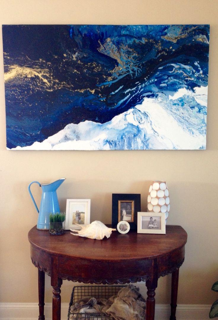 Best 20+ Blue Abstract Painting Ideas On Pinterest | Blue Painting Throughout Blue And Cream Wall Art (Image 5 of 20)