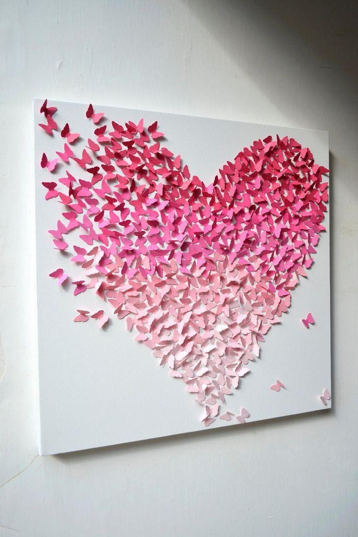 Best 20+ Butterfly Canvas Ideas On Pinterest | Special Gifts Throughout Pink Butterfly Wall Art (View 12 of 20)