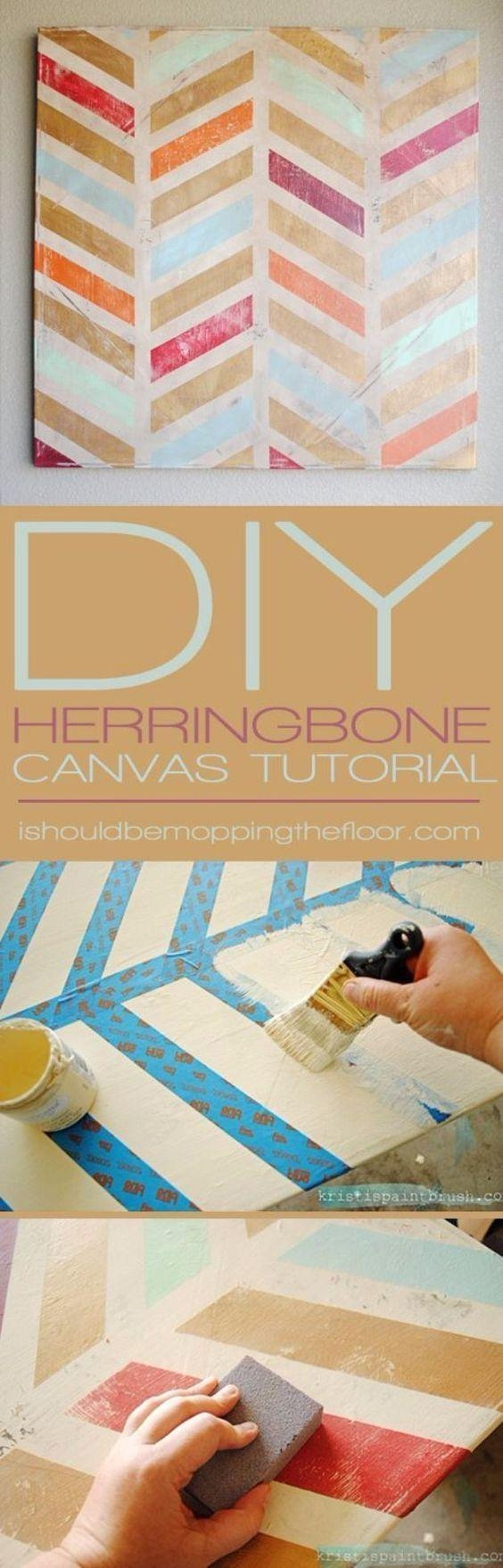 Best 20+ Canvas Wall Art Ideas On Pinterest—No Signup Required Intended For Diy Pinterest Canvas Art (Image 4 of 20)