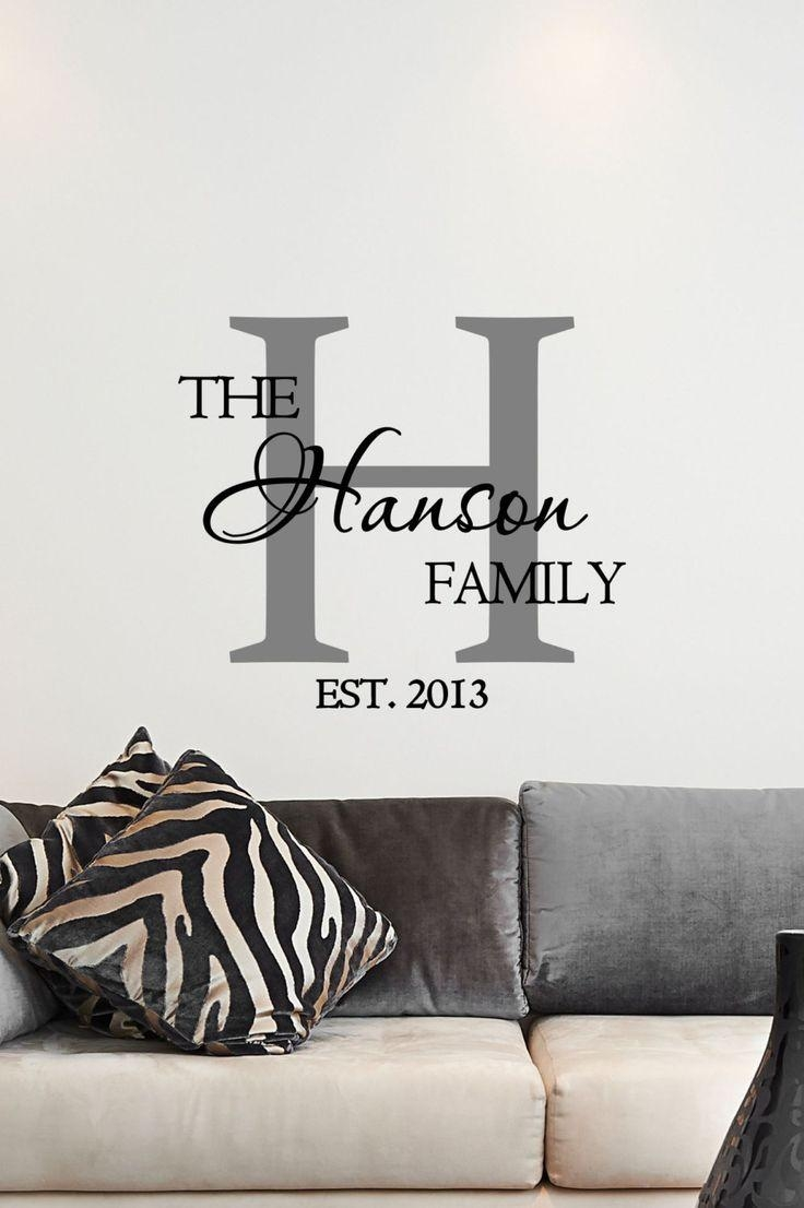 Best 20+ Family Name Art Ideas On Pinterest—No Signup Required With Last Name Framed Wall Art (View 10 of 20)