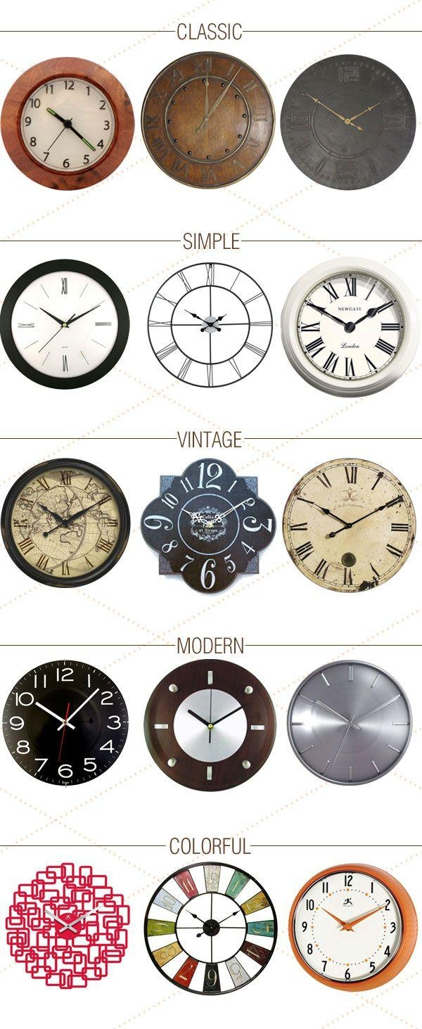 Best 20+ Wall Clocks Inspiration Ideas On Pinterest   Clocks Throughout Italian Ceramic Wall Clock Decors (Image 8 of 20)
