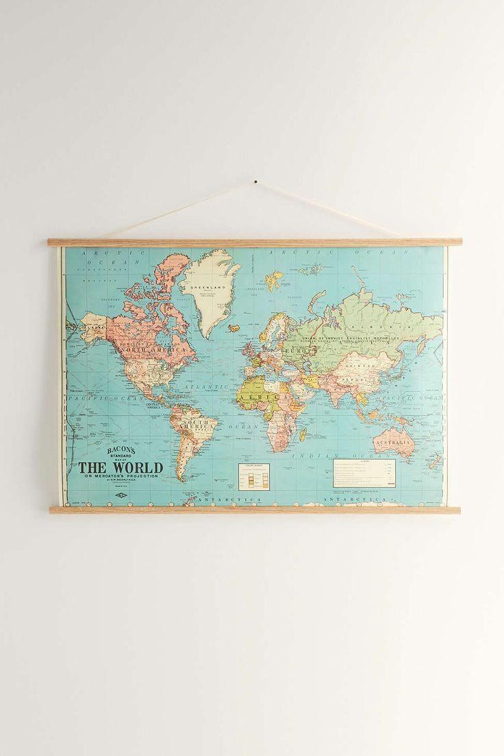Best 20+ World Map Wall Art Ideas On Pinterest | Travel Regarding Map Wall Art (View 17 of 20)