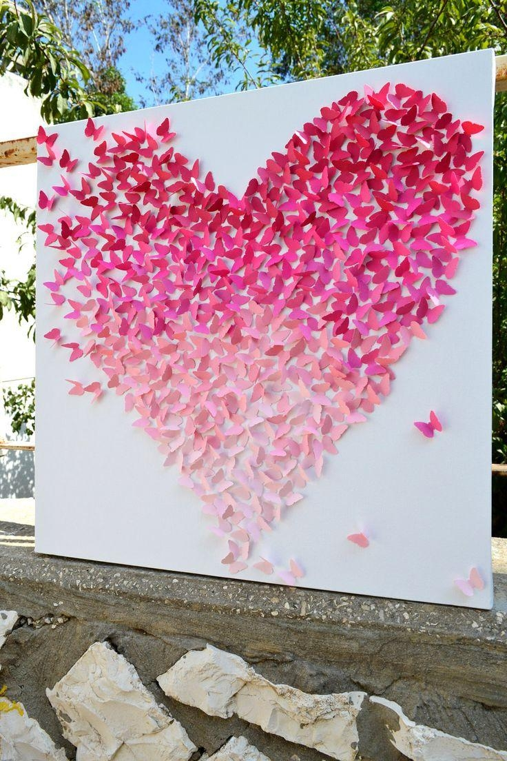 Best 25+ 3D Butterfly Wall Decor Ideas Only On Pinterest For Pink Butterfly Wall Art (Image 8 of 20)