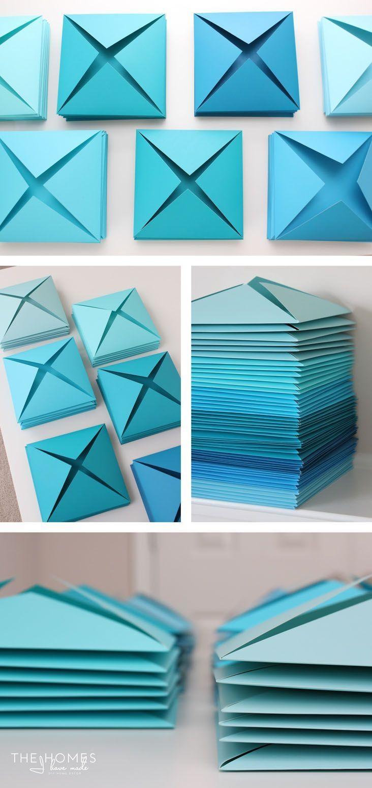Best 25+ 3D Wall Art Ideas On Pinterest | Paper Wall Art, Paper Pertaining To 3D Paper Wall Art (View 3 of 20)