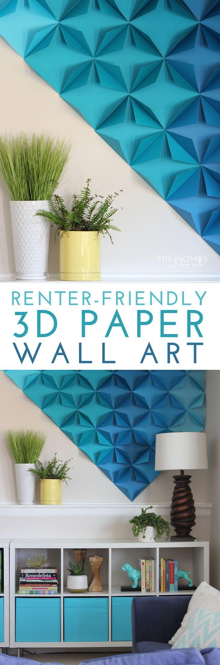 Best 25+ 3D Wall Art Ideas On Pinterest | Paper Wall Art, Paper Throughout 3D Paper Wall Art (Image 6 of 20)