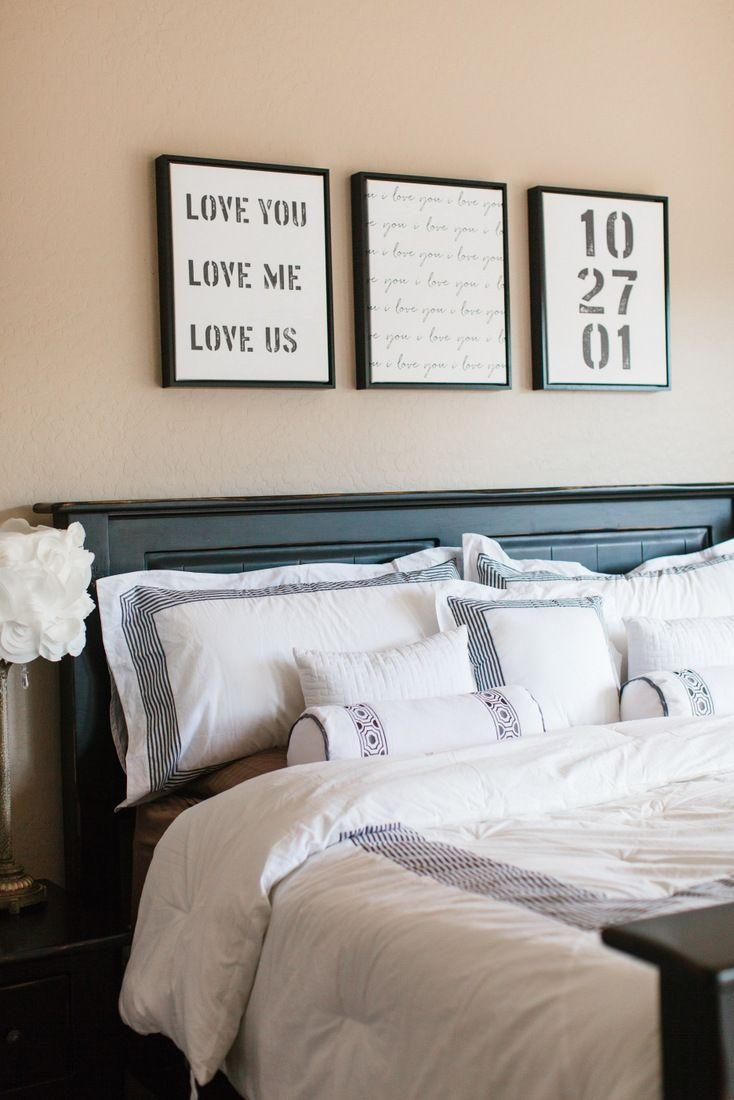 Best 25+ Above Bed Decor Ideas On Pinterest   Above Headboard Within Over The Bed Wall Art (View 8 of 20)