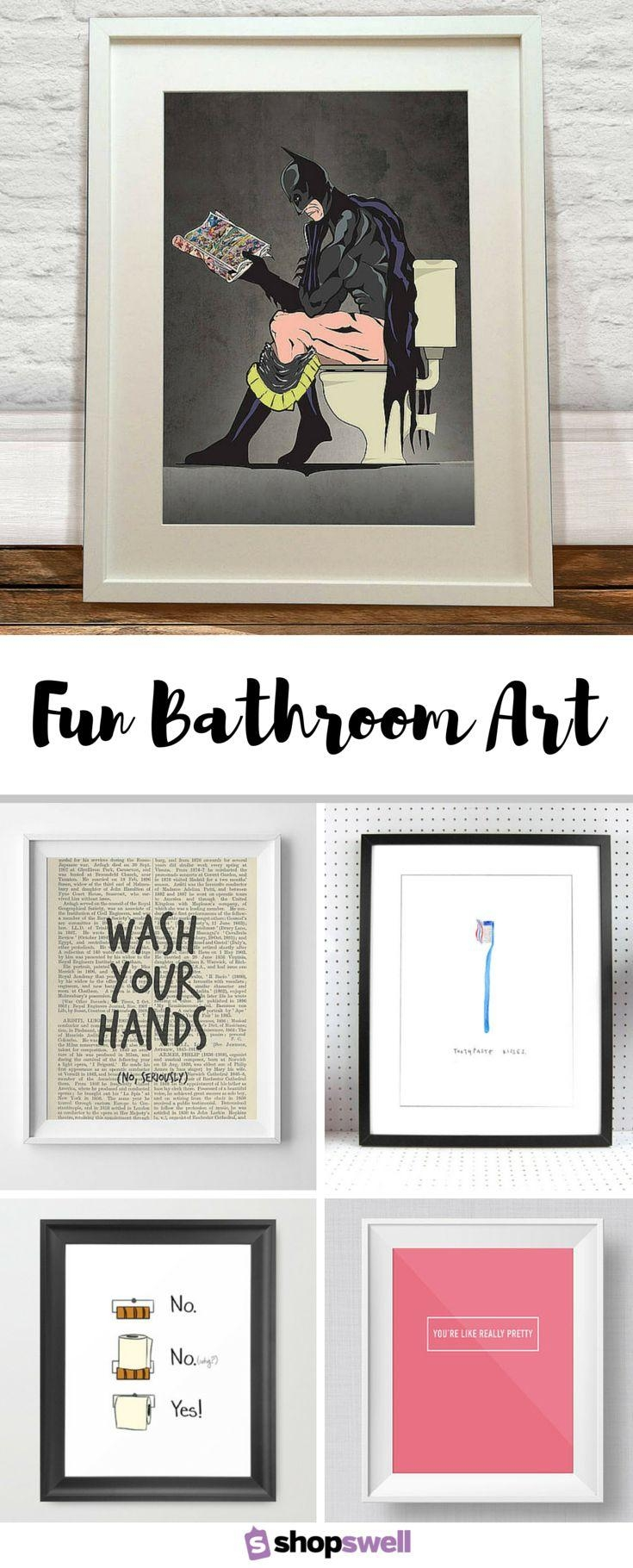 Best 25+ Bathroom Wall Art Ideas On Pinterest | Wall Decor For With Regard To Bathroom Wall Hangings (Image 14 of 20)