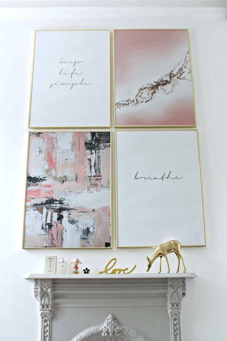 Best 25+ Bedroom Art Ideas On Pinterest | Art For Bedroom, Bedroom For Pink And Grey Wall Art (Image 4 of 20)