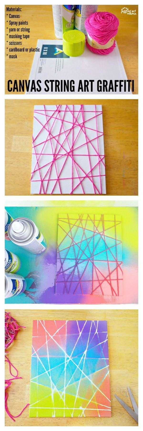 Best 25+ Canvas Crafts Ideas Only On Pinterest | Drawing Room With Diy Pinterest Canvas Art (Image 10 of 20)