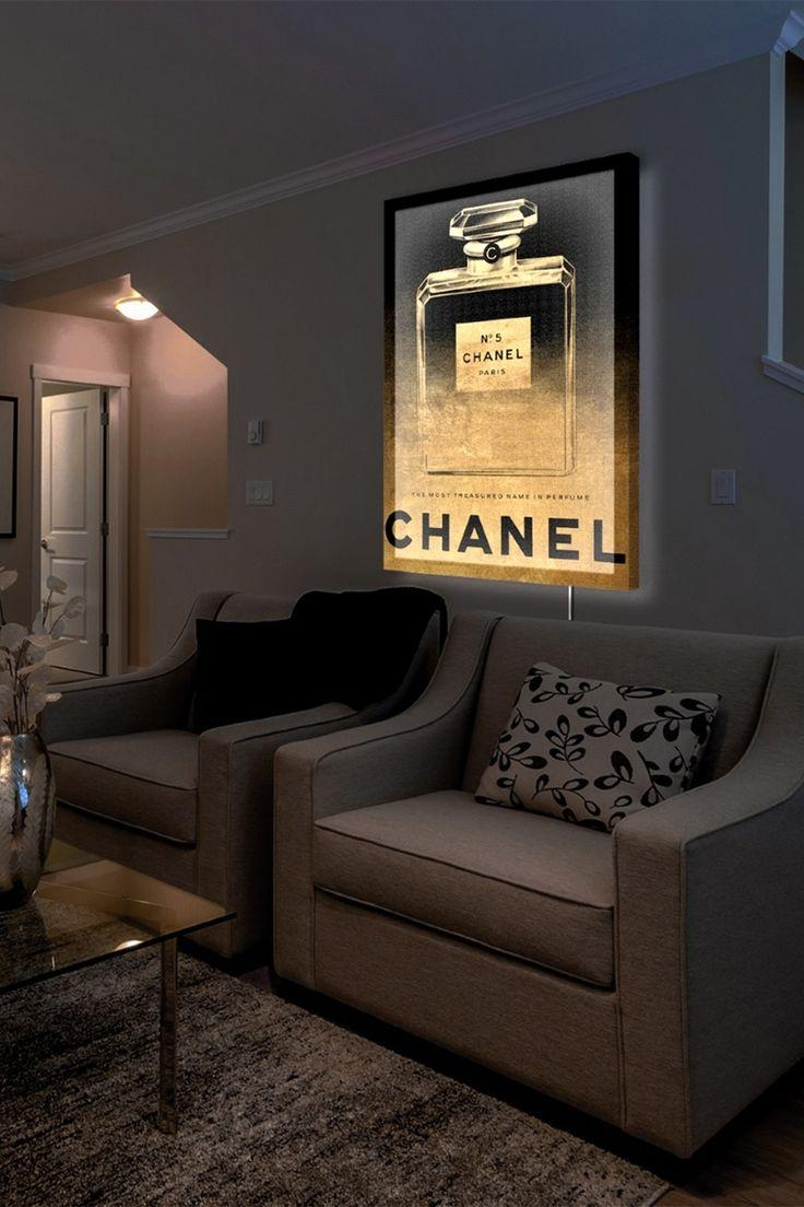 Best 25+ Chanel Inspired Room Ideas On Pinterest | Makeup Vanity With Chanel Wall Decor (Image 3 of 20)