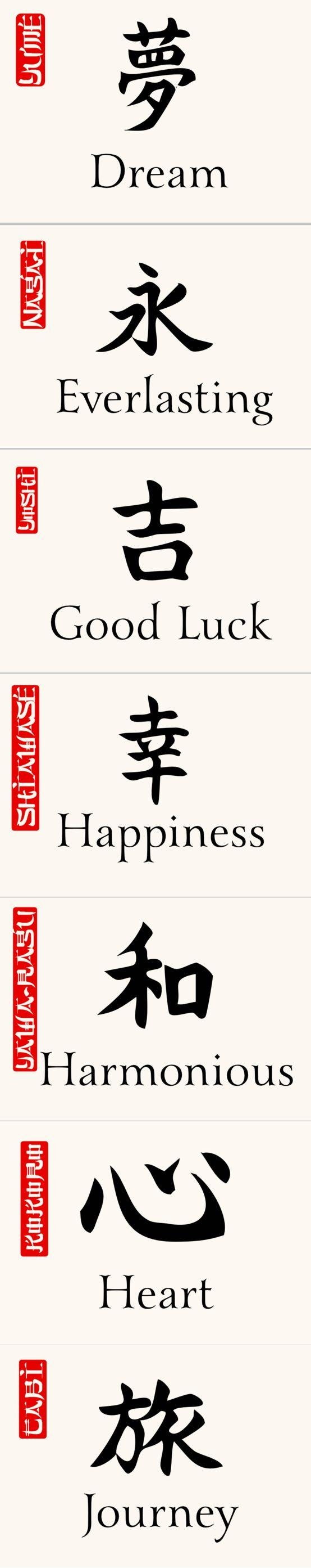 Best 25+ Chinese Symbol Tattoos Ideas On Pinterest | Japanese With Chinese Symbol For Inner Strength Wall Art (Image 12 of 20)