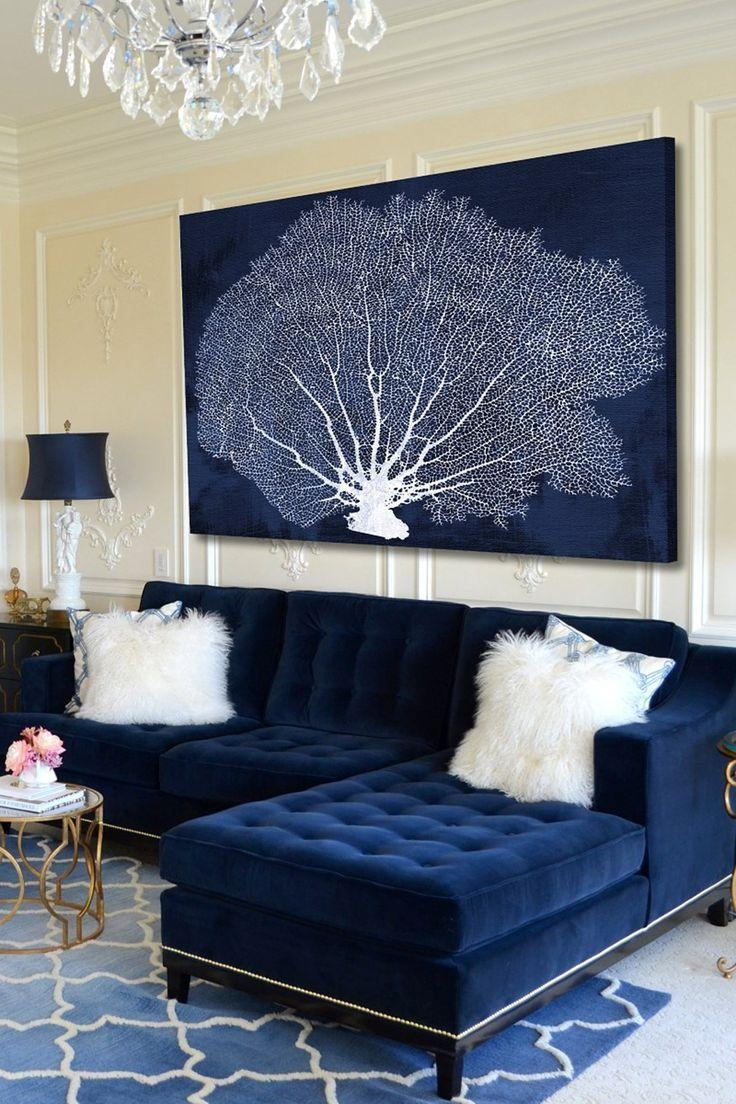 Best 25+ Coral Wall Art Ideas On Pinterest | Hallway Wall Decor With Regard To Dark Blue Wall Art (Image 4 of 20)
