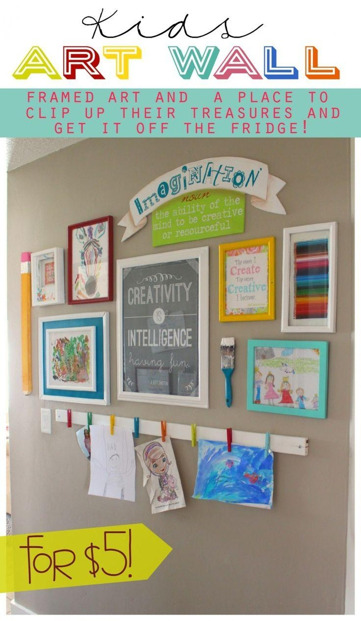 Best 25+ Display Kids Art Ideas Only On Pinterest | Display Kids Within Preschool Wall Art (Image 5 of 20)