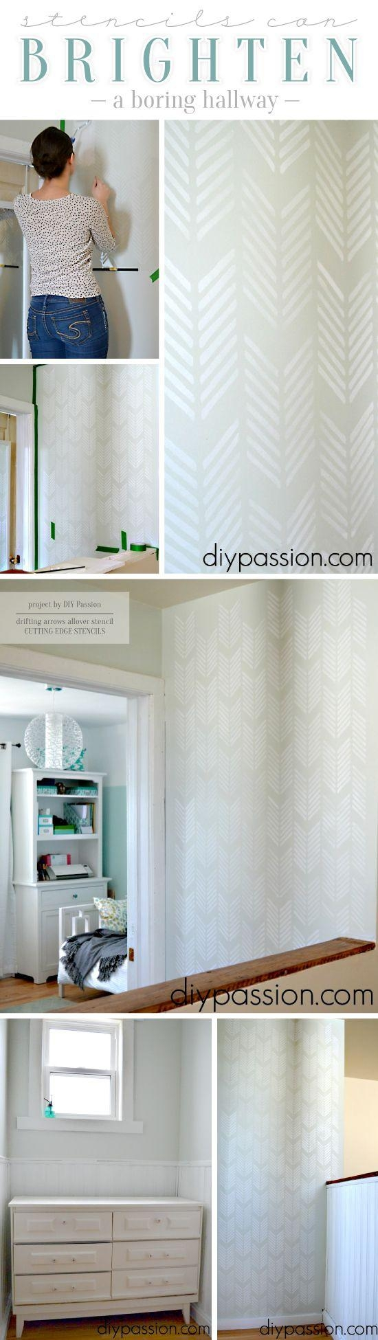 Best 25+ Diy Stenciled Walls Ideas On Pinterest | Stencil Wall Art Within Space Stencils For Walls (View 11 of 20)