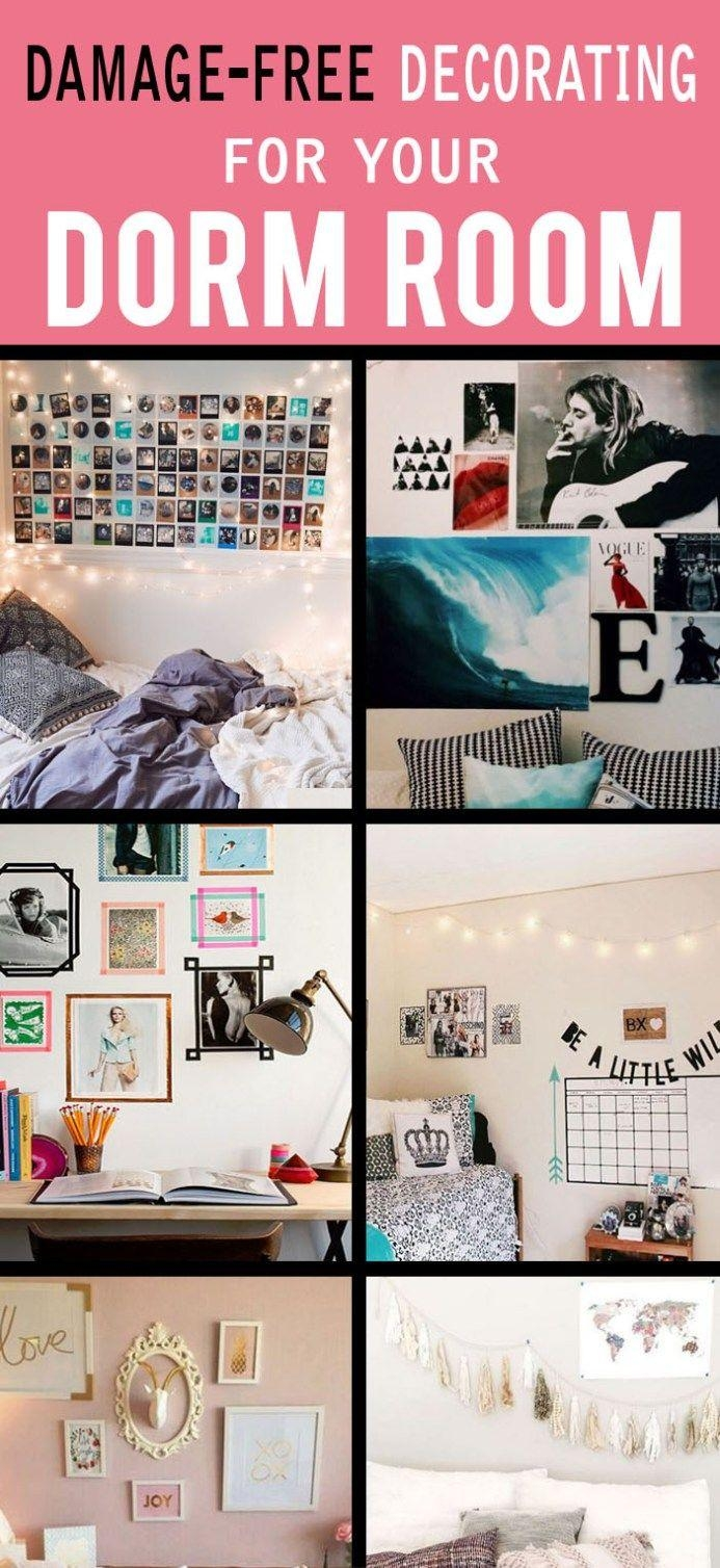 Best 25+ Dorm Wall Decorations Ideas On Pinterest | Tumblr Rooms Intended For College Dorm Wall Art (Image 9 of 20)