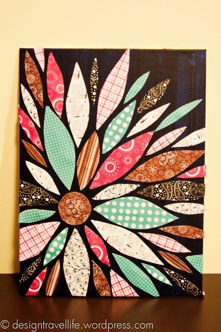 Best 25+ Fabric Canvas Art Ideas On Pinterest | Fabric Wall Art Throughout Flower Wall Art Canvas (Image 5 of 20)