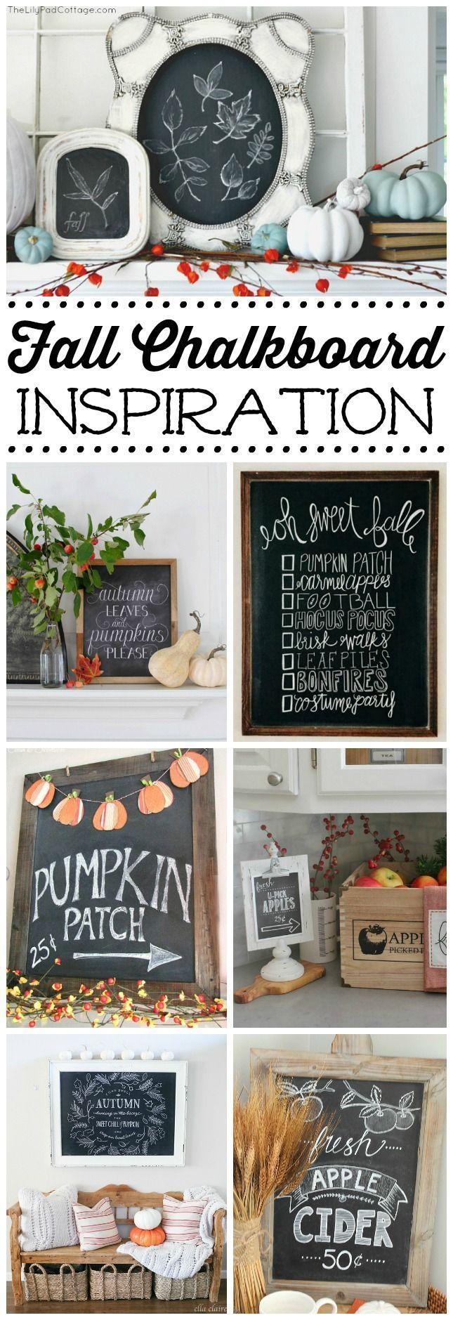 Best 25+ Fall Chalkboard Ideas On Pinterest   Fall Chalkboard Art Within Autumn  Inspired Wall Art (Image 8 of 20)