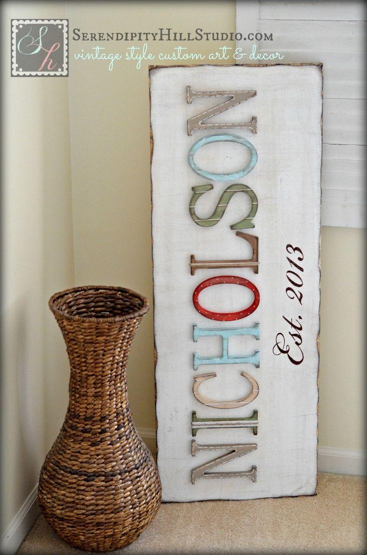 Best 25+ Family Name Established Ideas On Pinterest   Family Name With Last Name Framed Wall Art (View 19 of 20)