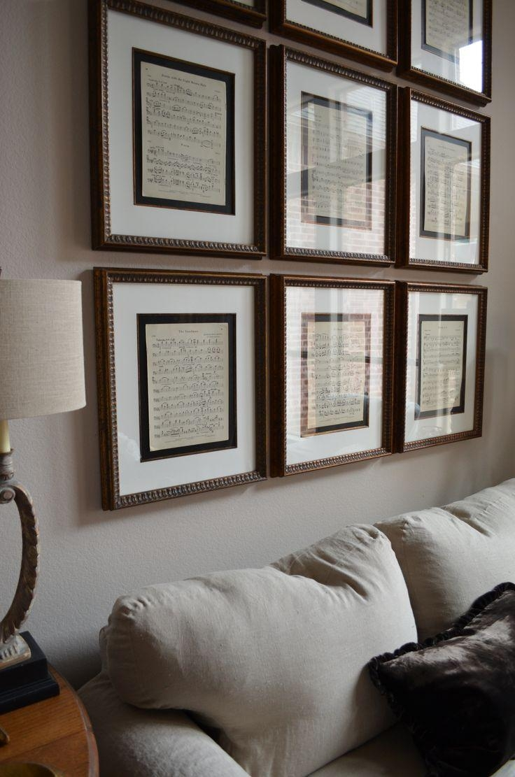 Best 25+ Framed Sheet Music Ideas On Pinterest   Sheet Music Pertaining To Media Room Wall Art (Image 3 of 20)
