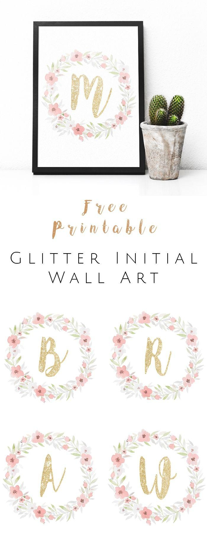 Best 25+ Initial Wall Art Ideas On Pinterest | Monogram Wall Art For Framed Monogram Wall Art (Image 5 of 20)
