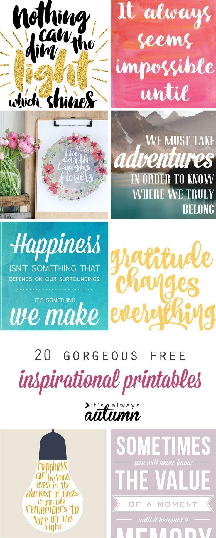 Best 25+ Inspirational Wall Art Ideas On Pinterest | Free With Inspirational Sayings Wall Art (View 11 of 20)