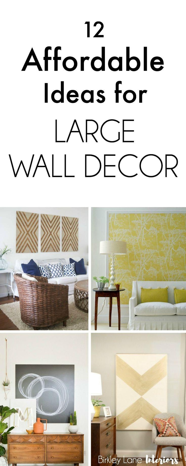 20 best collection of wall art decor for family room Decorating ideas for a large living room