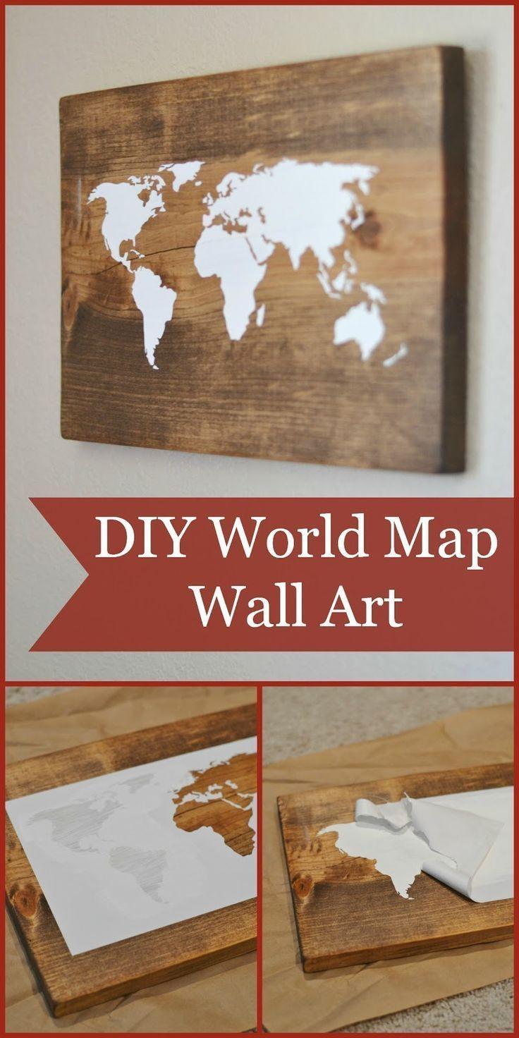 Best 25+ Map Wall Art Ideas On Pinterest | World Map Wall, Map Inside Old World Map Wall Art (Image 2 of 20)