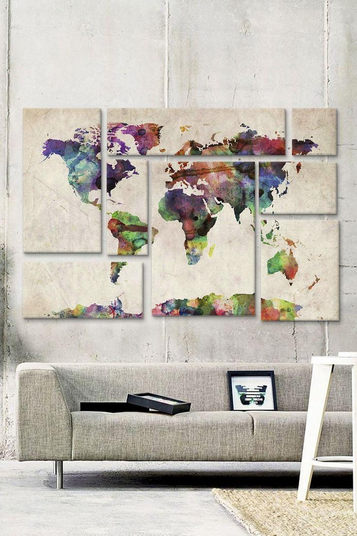 Best 25+ Map Wall Art Ideas On Pinterest | World Map Wall, Map Pertaining To World Wall Art (Image 3 of 20)
