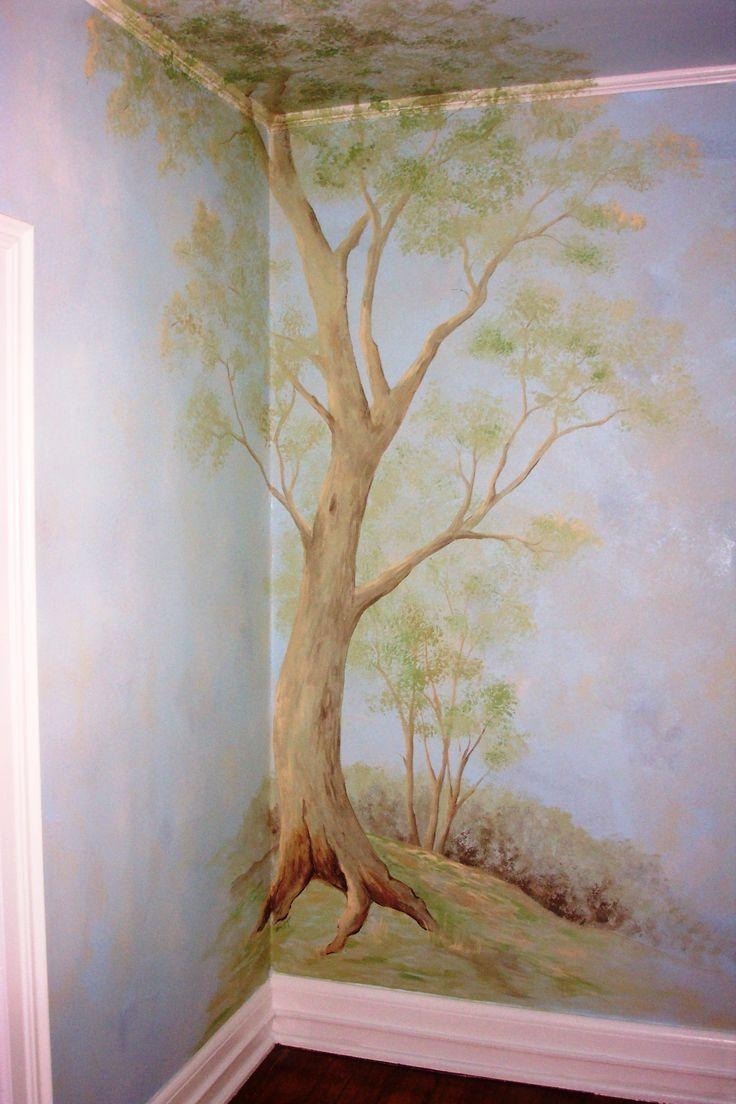 Best 25+ Nursery Tree Mural Ideas On Pinterest | Tree Wall Regarding Painted Trees Wall Art (View 18 of 20)