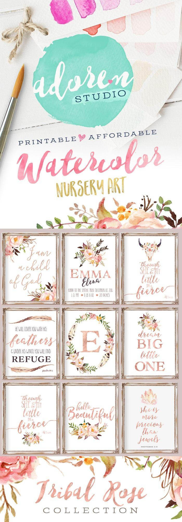 Best 25+ Nursery Wall Art Ideas Only On Pinterest | Baby Nursery Within Baby Wall Art (Image 11 of 20)