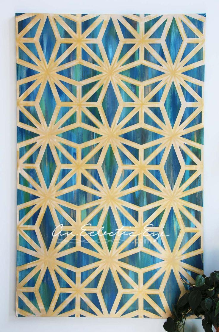 Best 25+ Painters Tape Design Ideas On Pinterest   Wall Paint Within Pattern Wall Art (View 6 of 20)