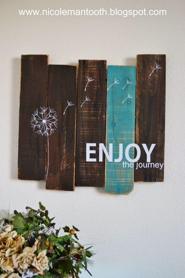 Best 25+ Pallet Wall Art Ideas On Pinterest | Chevron, Navy With Regard To Dark Wood Wall Art (Image 7 of 20)
