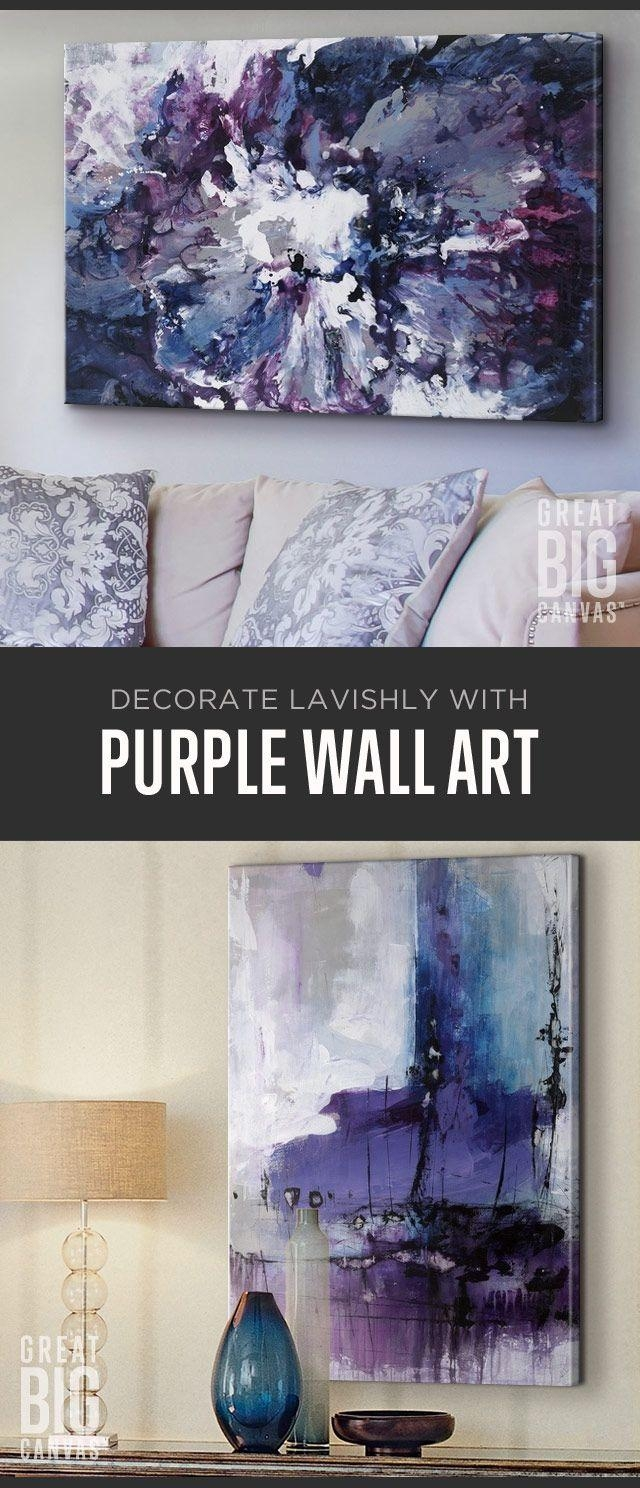 Best 25+ Purple Wall Art Ideas On Pinterest | Purple Printed Art Pertaining To Purple Wall Art (Image 3 of 20)