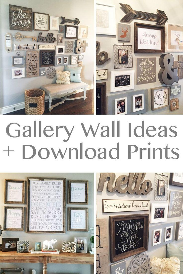 Best 25+ Rustic Wall Decor Ideas On Pinterest | Farmhouse Wall With Regard To Farmhouse Wall Art (Image 5 of 20)