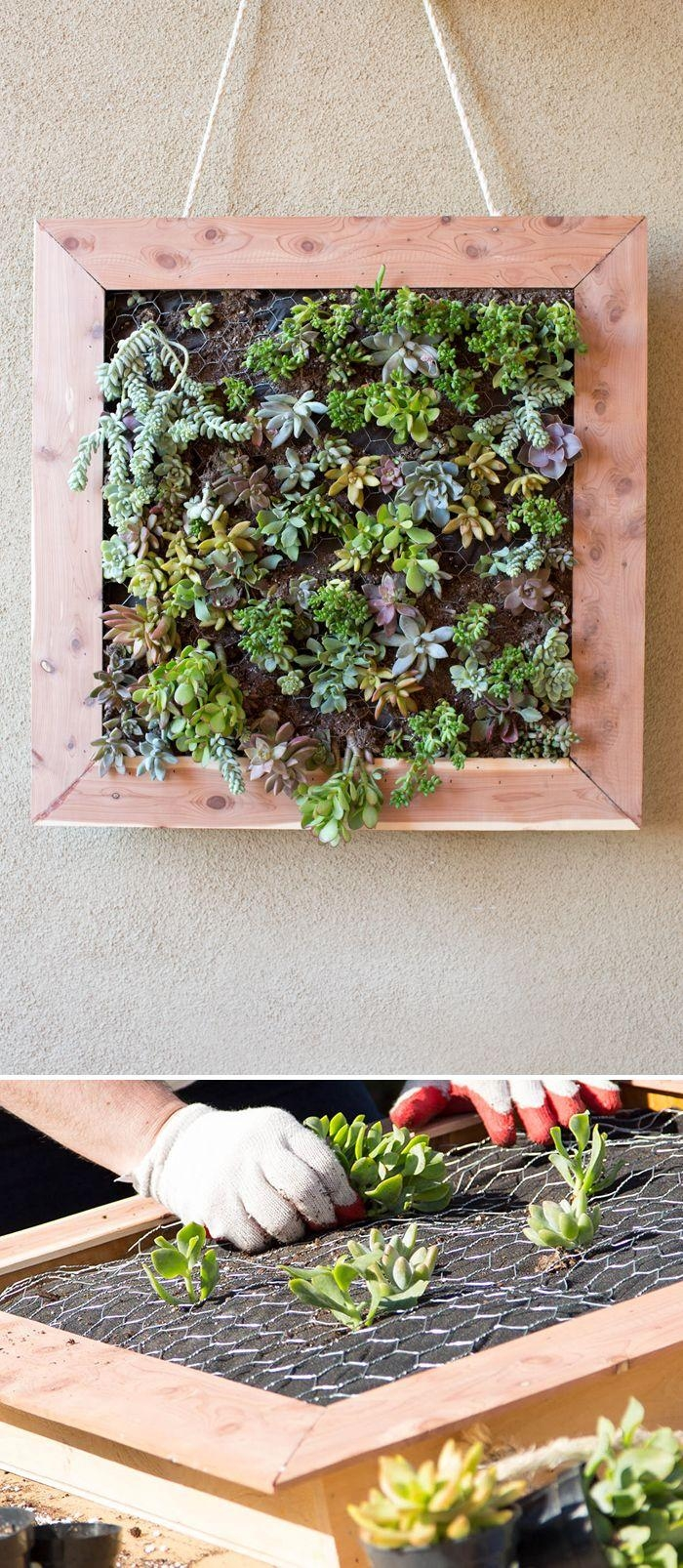Best 25+ Succulent Wall Gardens Ideas On Pinterest | Succulent Pertaining To Floral & Plant Wall Art (Image 5 of 20)