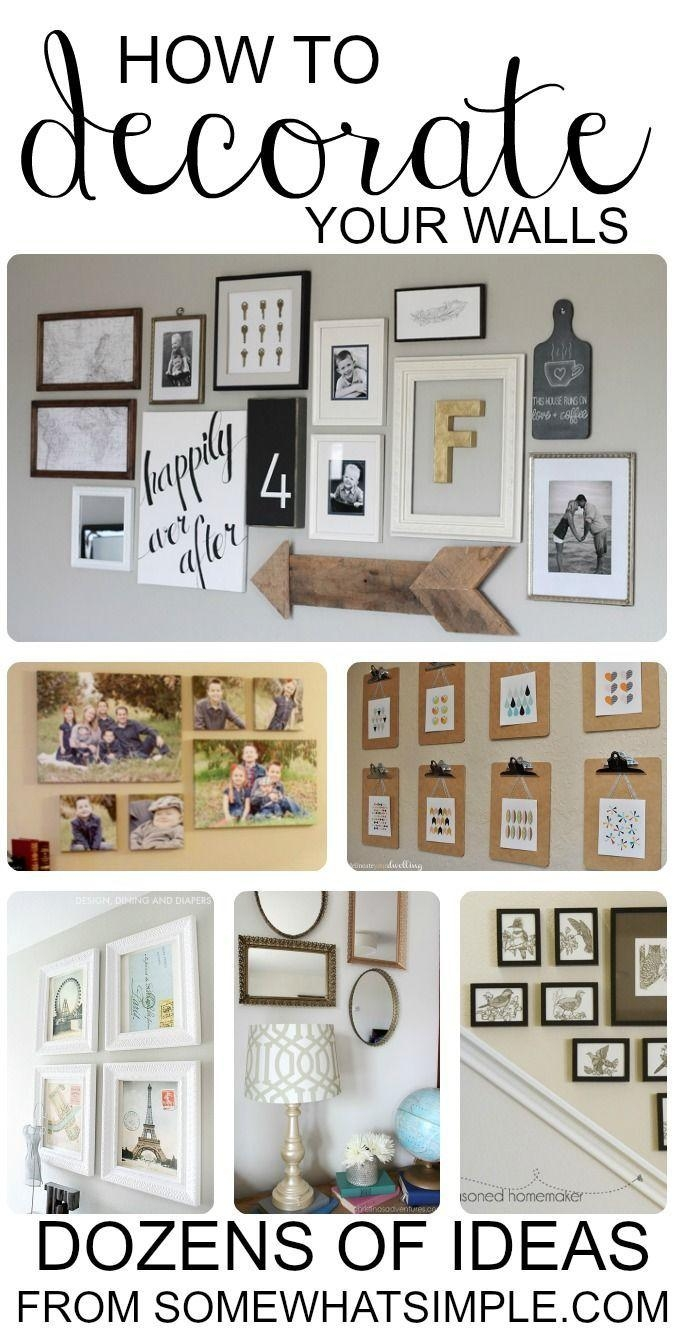 Best 25+ Wall Decorations Ideas Only On Pinterest | Home Decor Intended For Pinterest Wall Art Decor (Image 16 of 20)