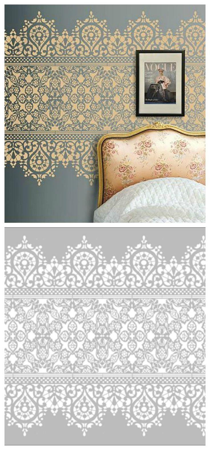Best 25+ Wall Stencil Patterns Ideas On Pinterest | Wall Regarding Space Stencils For Walls (Image 8 of 20)
