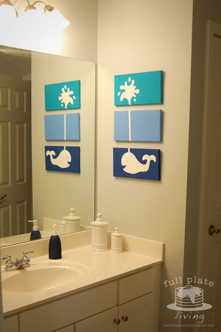 Best 25+ Whale Bathroom Ideas On Pinterest | Nautical Shelving For Kids Bathroom Wall Art (View 12 of 20)