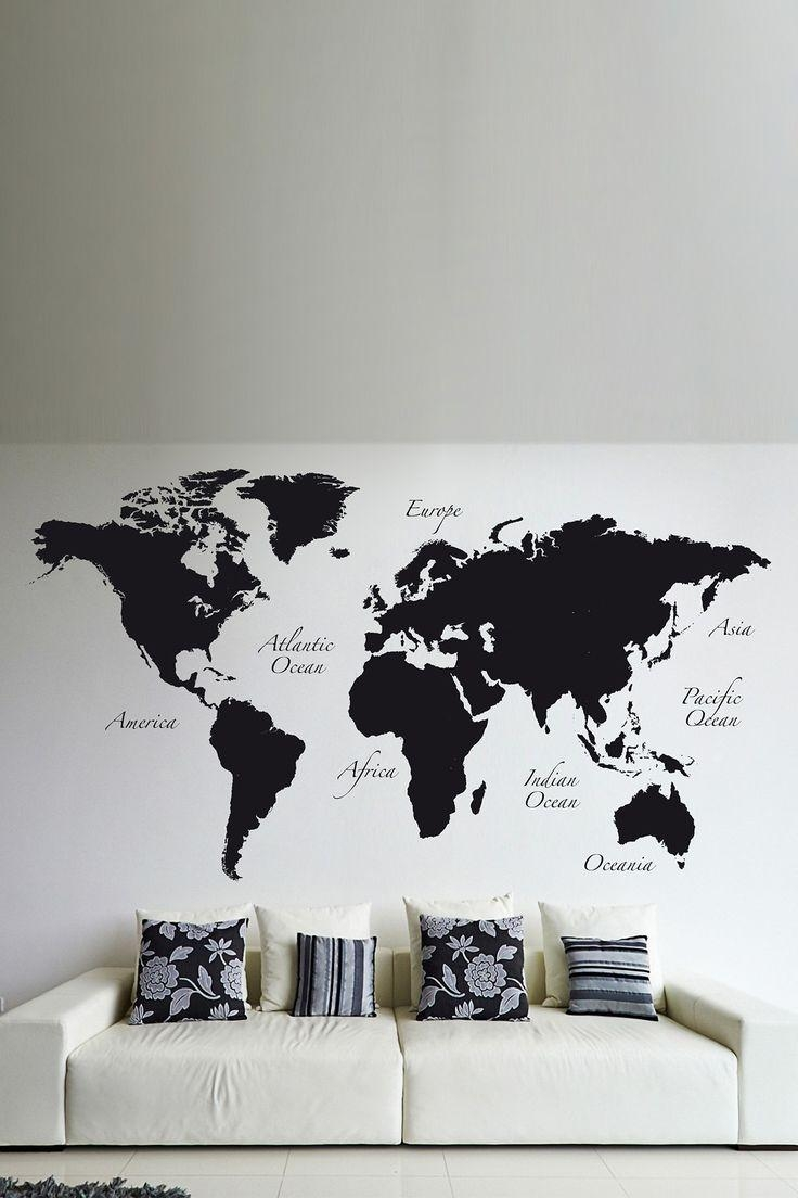 Best 25+ World Map Wall Decal Ideas On Pinterest | Vinyl Wall For World Wall Art (View 16 of 20)