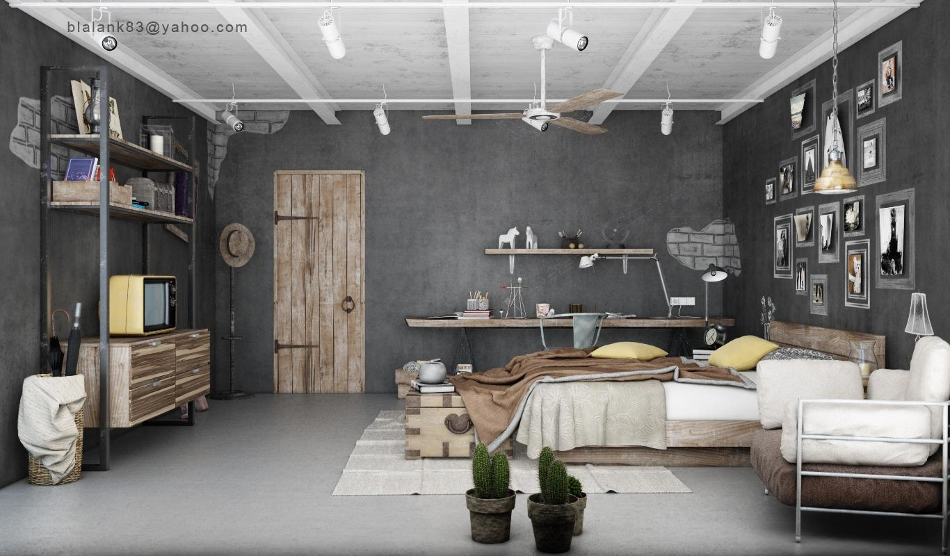 Best Creative Industrial Bedroom Decor Ideas With Nice Wall Art Intended For Industrial Wall Art (Image 5 of 20)