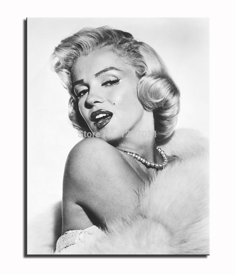 Best Quality Printed Sexy Marilyn Monroe Black White Red Oil Pertaining To Marilyn Monroe Black And White Wall Art (Image 6 of 20)